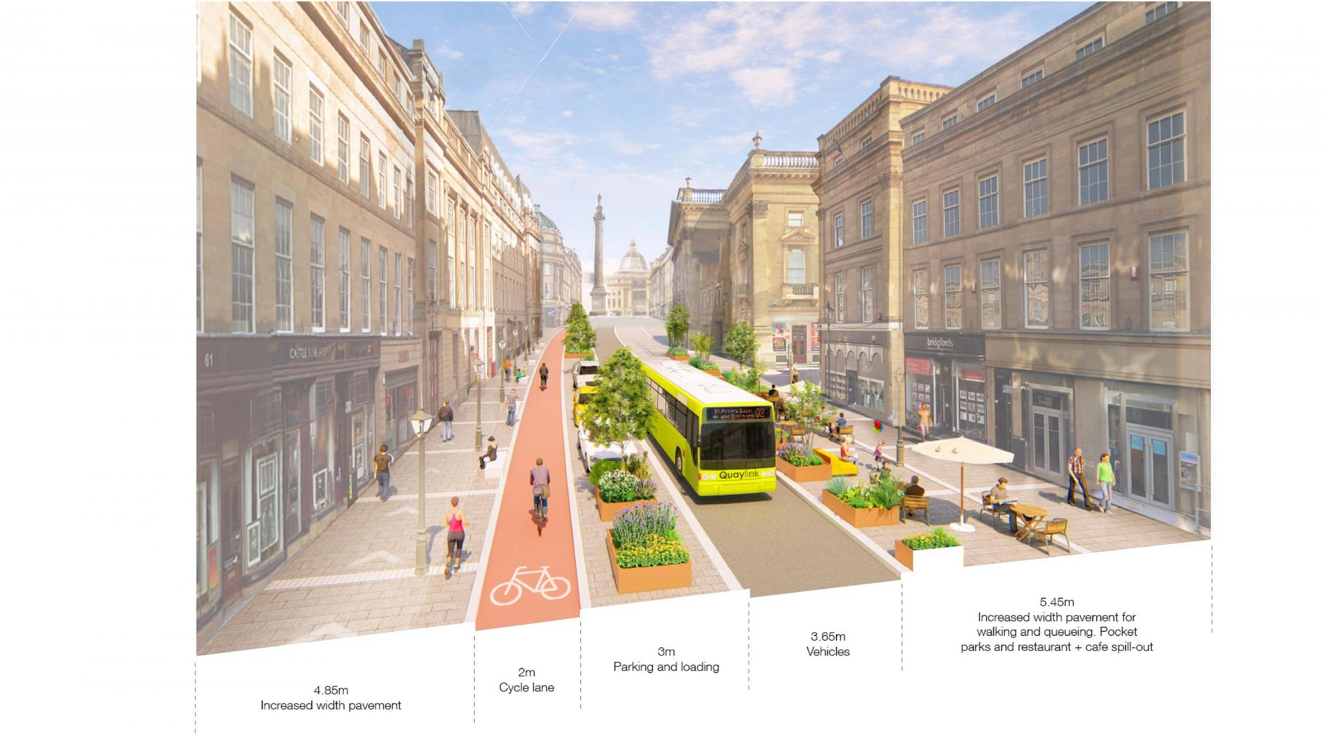 How Newcastle`s Grey Street could be transformed