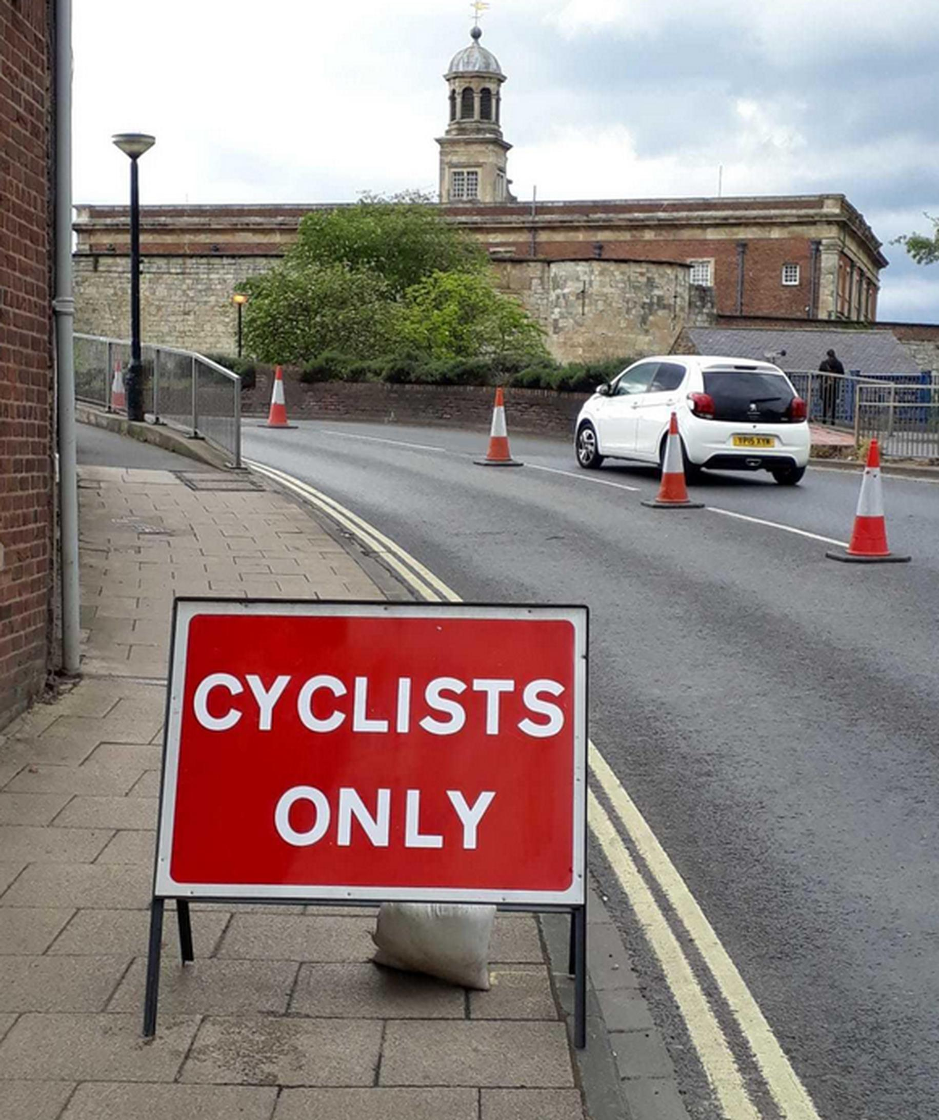 Pop-up cycle lanes are appearing across York