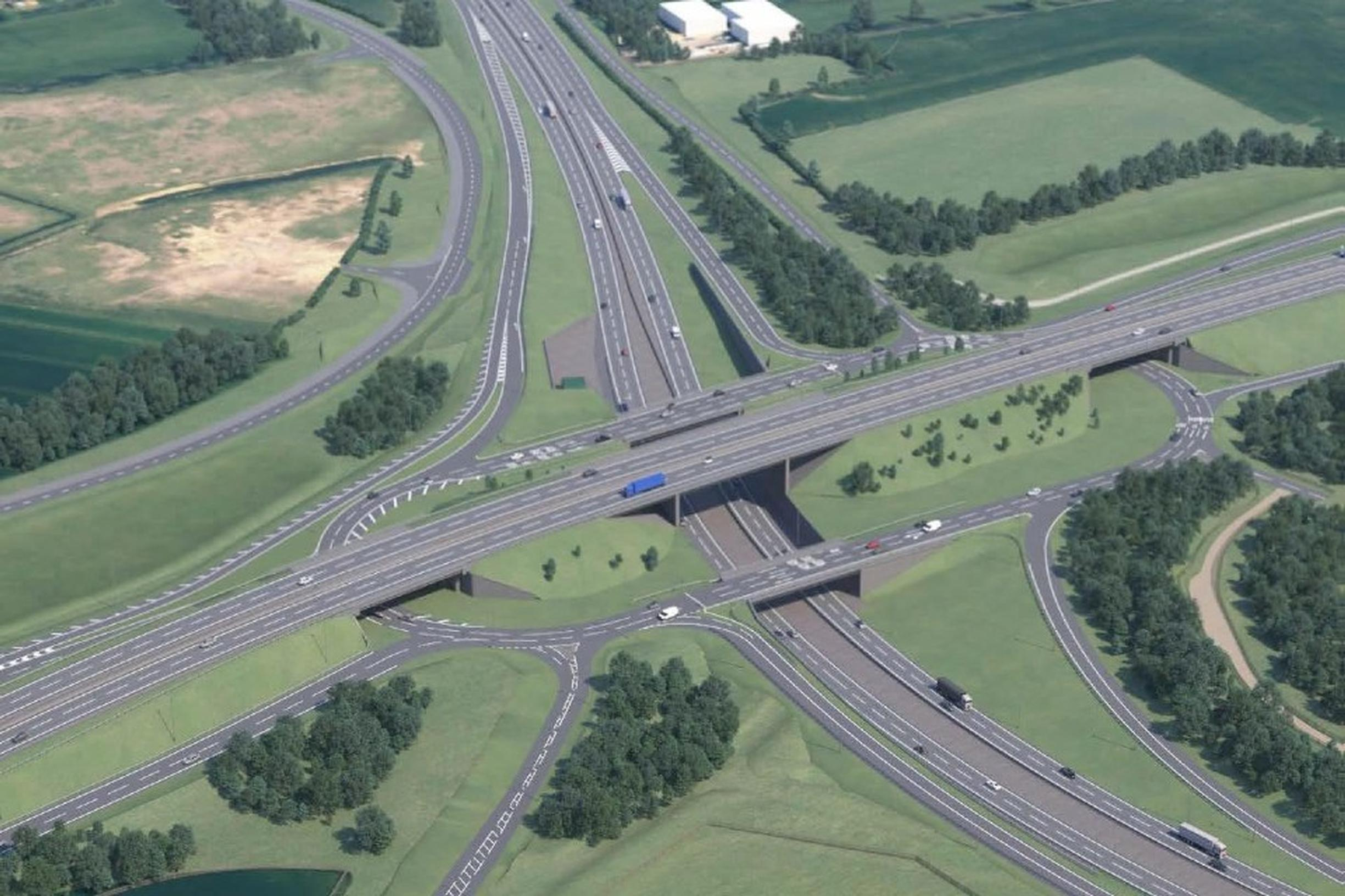 The proposed A428 Black Cat to Caxton Gibbet improvements