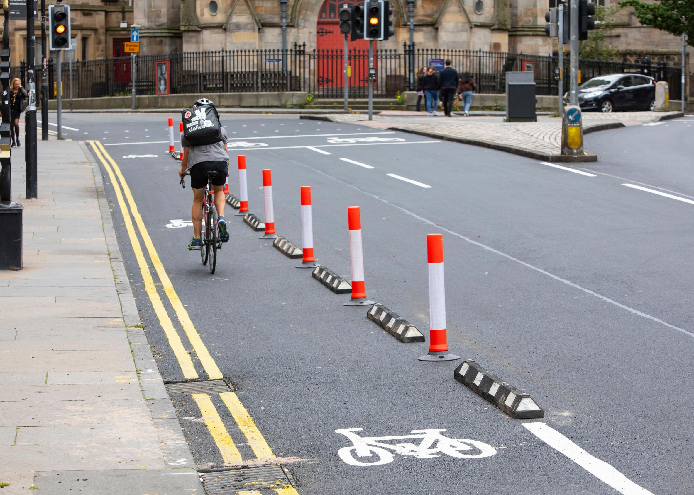 Edinburgh has been creating new space for cyclists and pedestrians