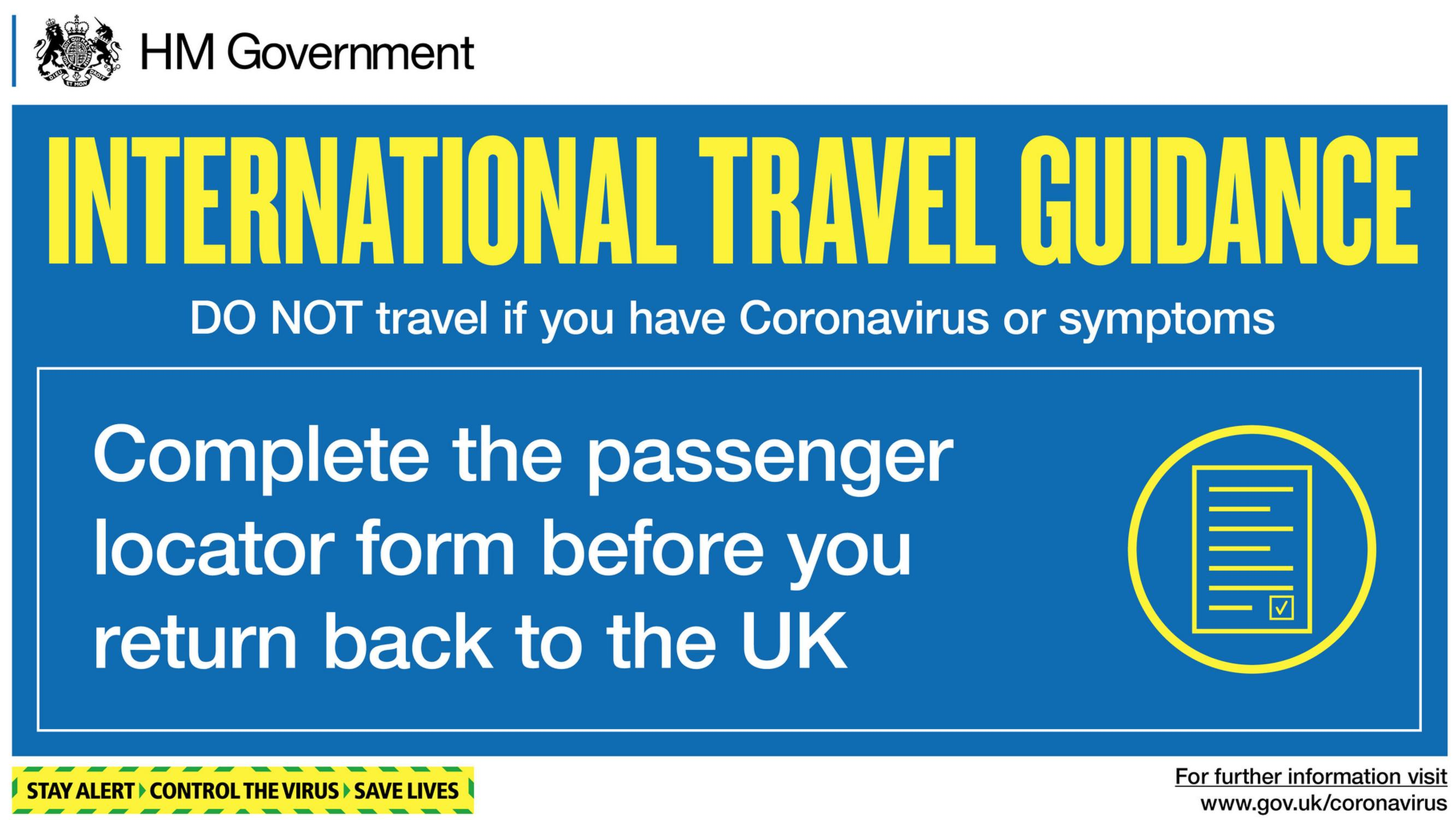 All travellers, including those from exempt destinations, will be required to show a completed passenger locator form on arrival into the UK unless they fall into a small group of exemptions, with failure to do so resulting in a £100 fine.