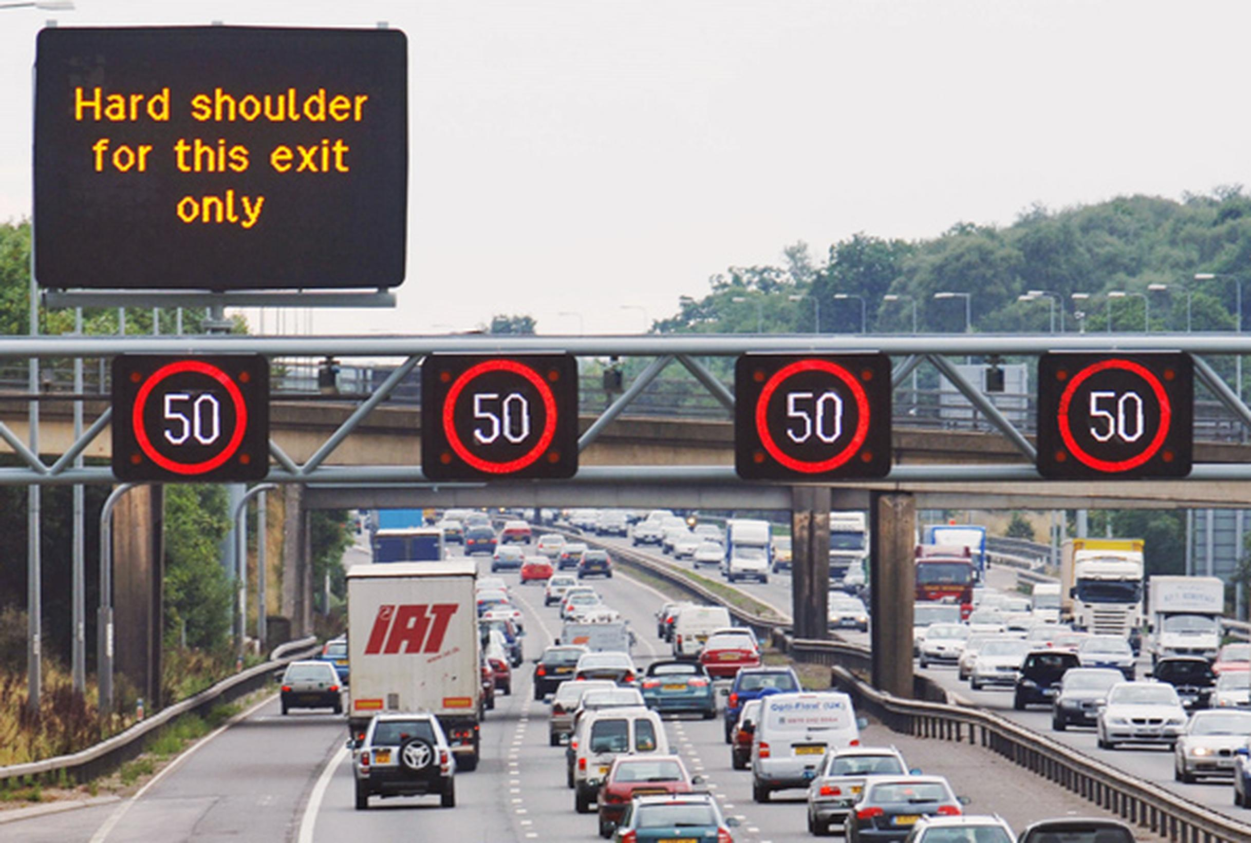 The DfT asks how an ALKS?car would recognise a variable speed limit displayed on a gantry