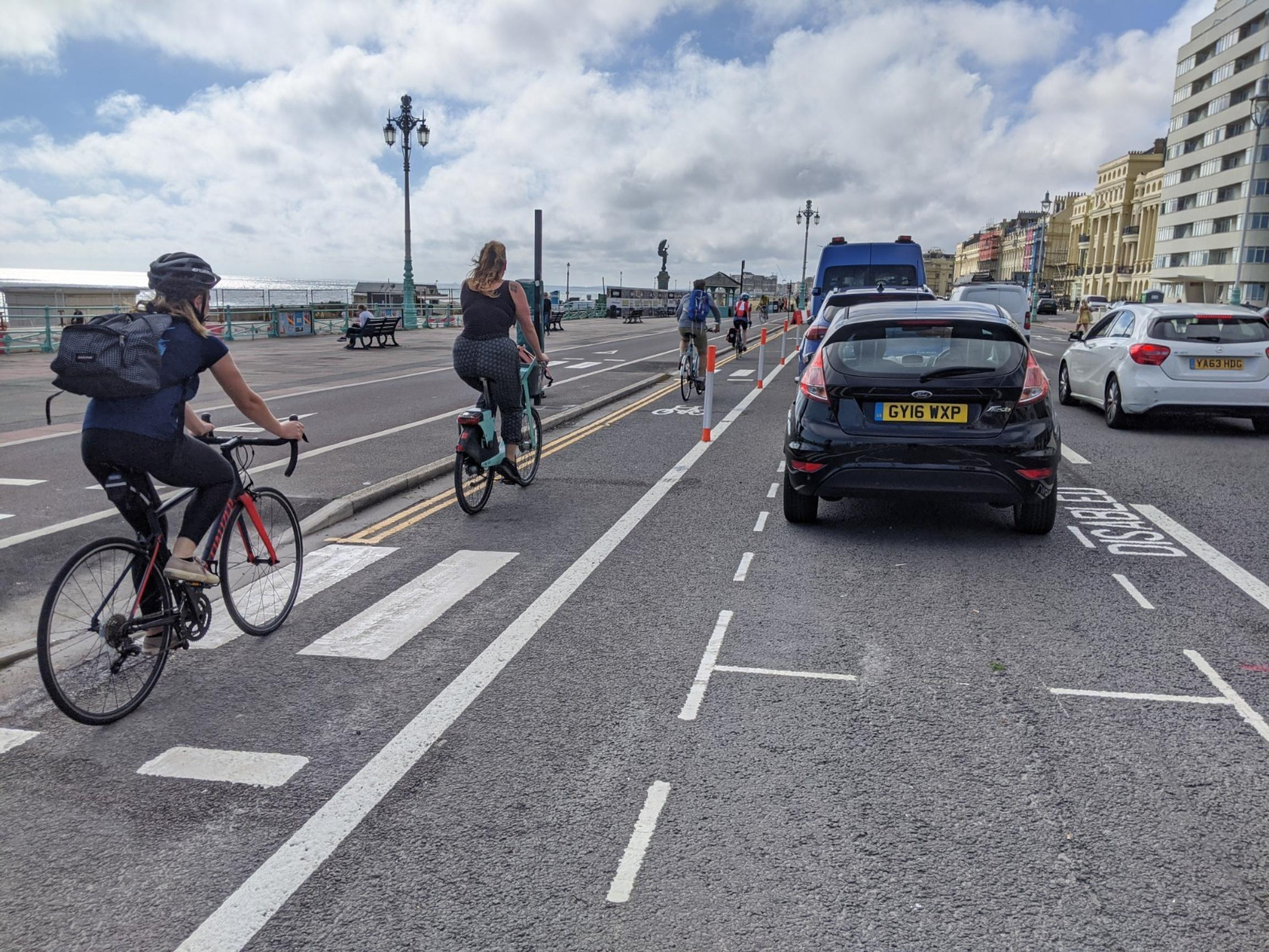 Brighton rethink over cycle lane after bus journey times go up