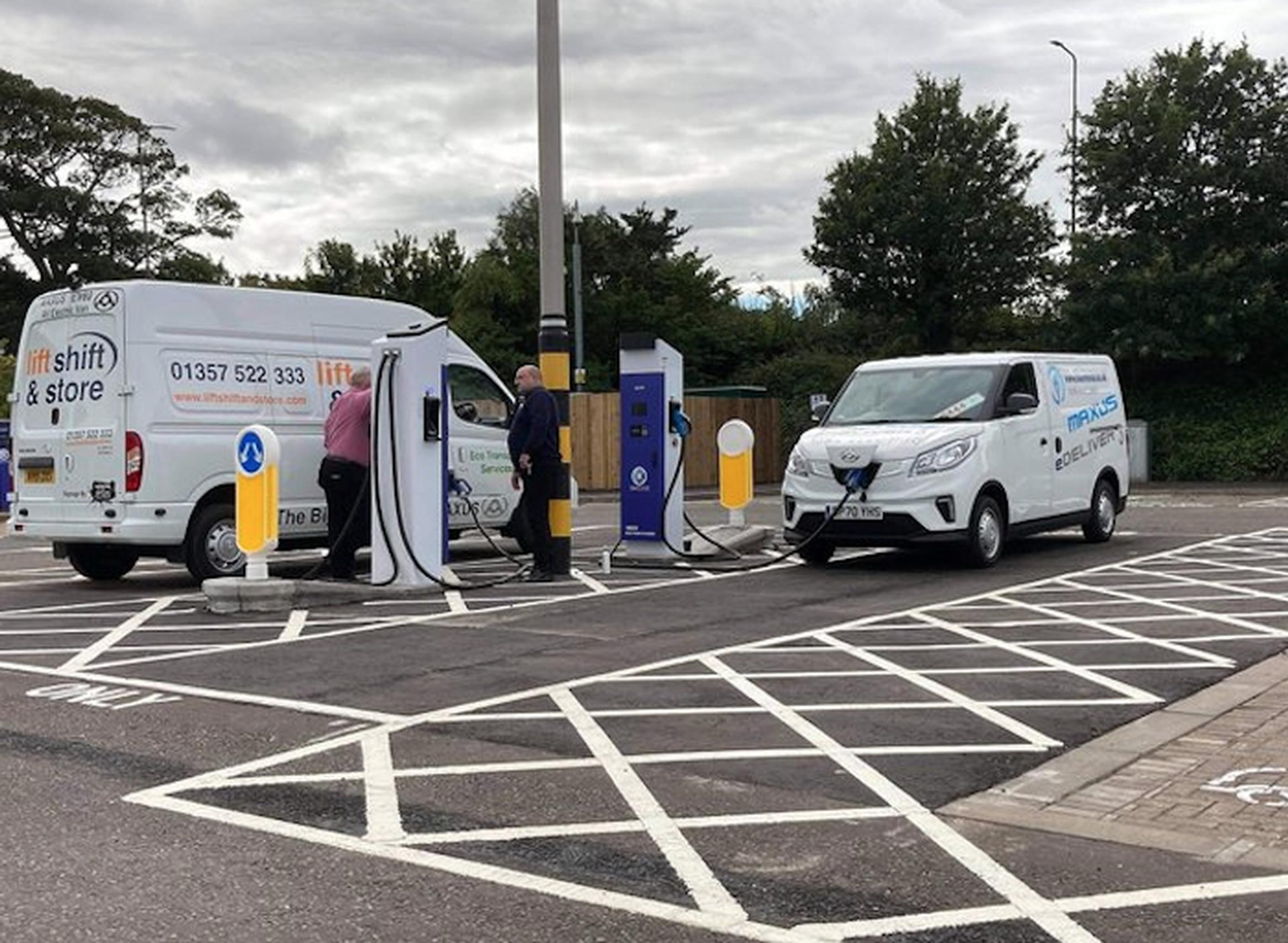 The Wallyford Park & Choose hub features 18 charging stations