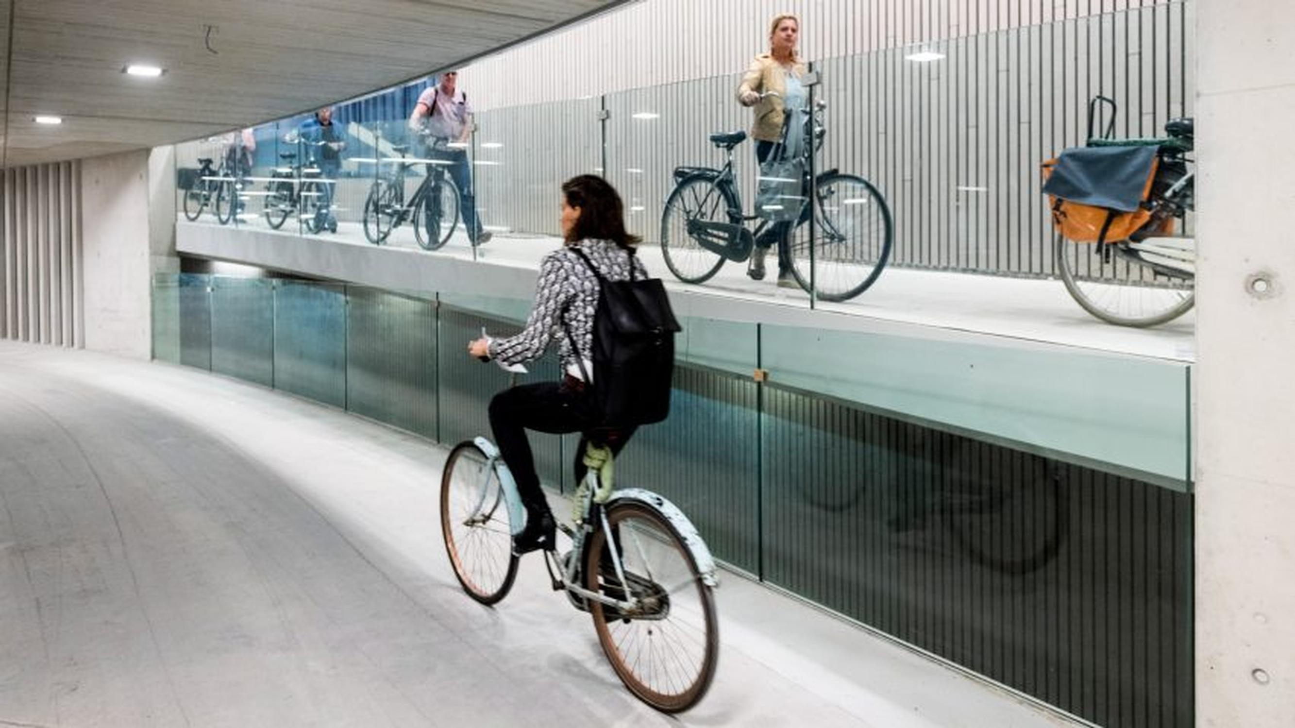 The €30m facility at Utrecht central railway station in the Netherlands has space for over 12,500 bicycles