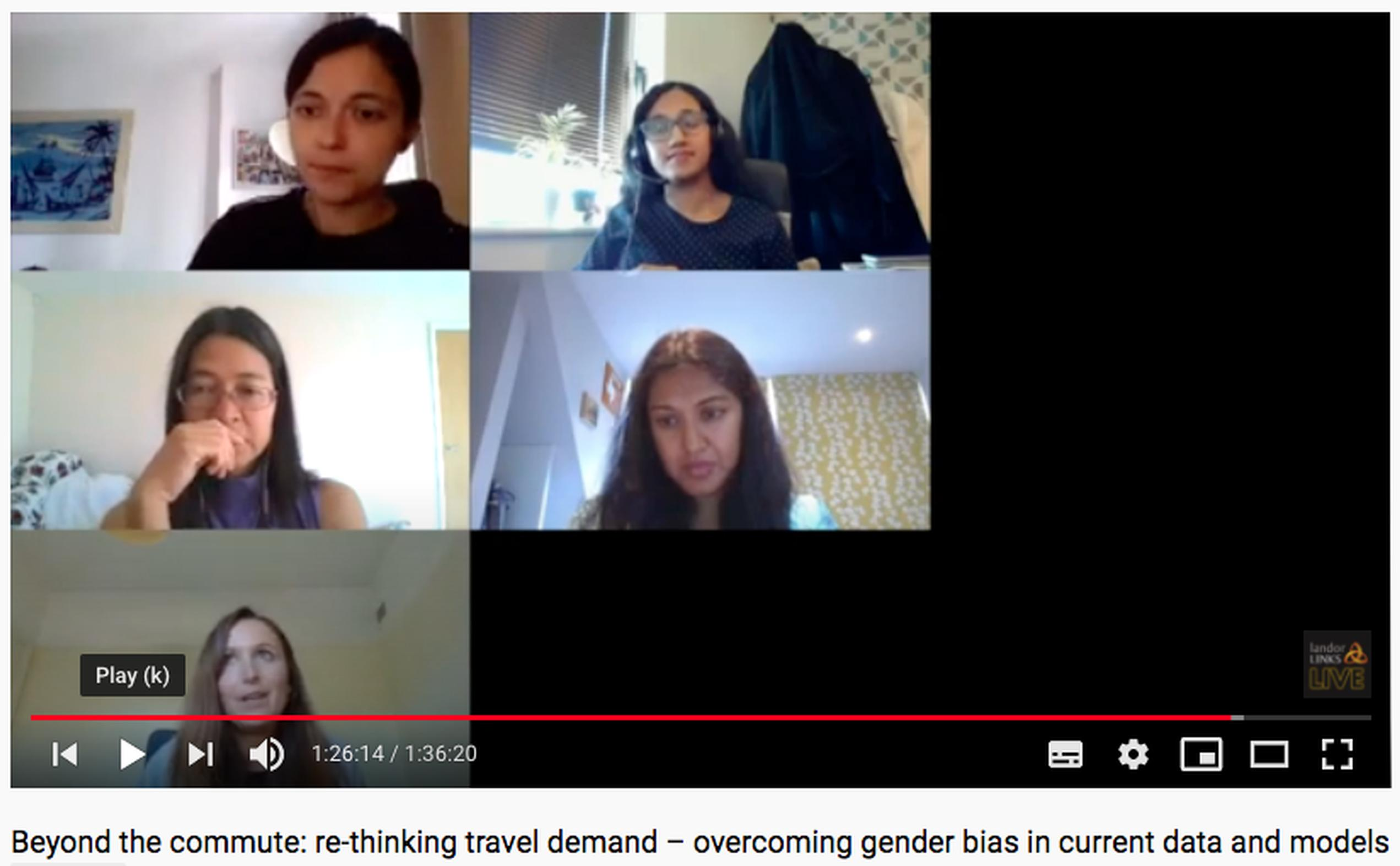 Virtual plenary at MW – Beyond the commute: re-thinking travel demand – overcoming gender bias in current data and models