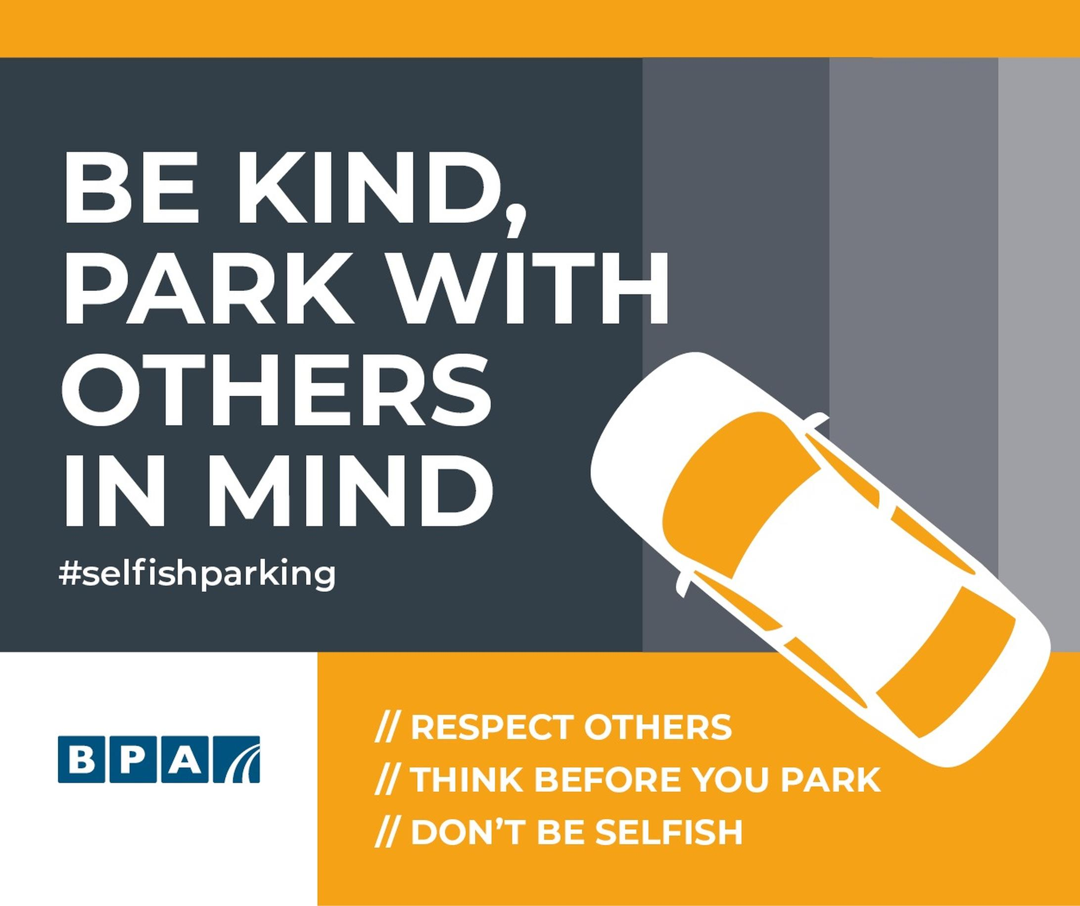 BPA asks motorists to be kind and respect others when parking