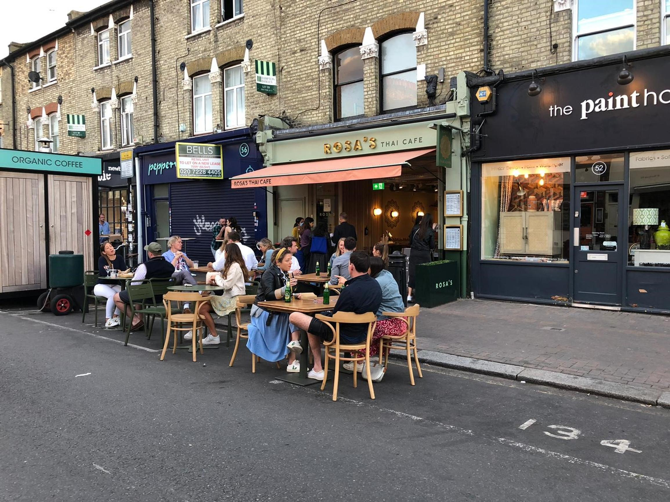 Northcote Road: cafes and restaurants recruited extra staff to cope with demand