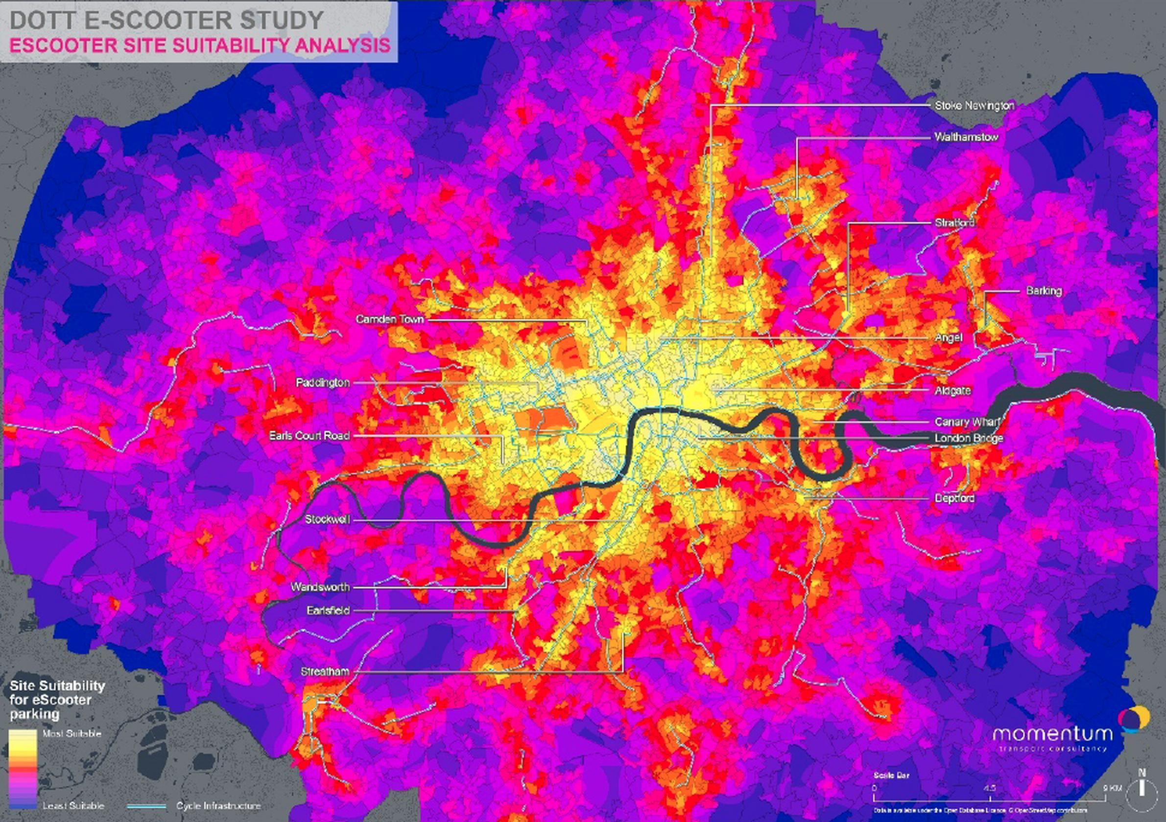 The Dott study outlines how Paris boosted parking compliance to 97% – and how pairing e-scooters with public transport would reach 98% of inner London