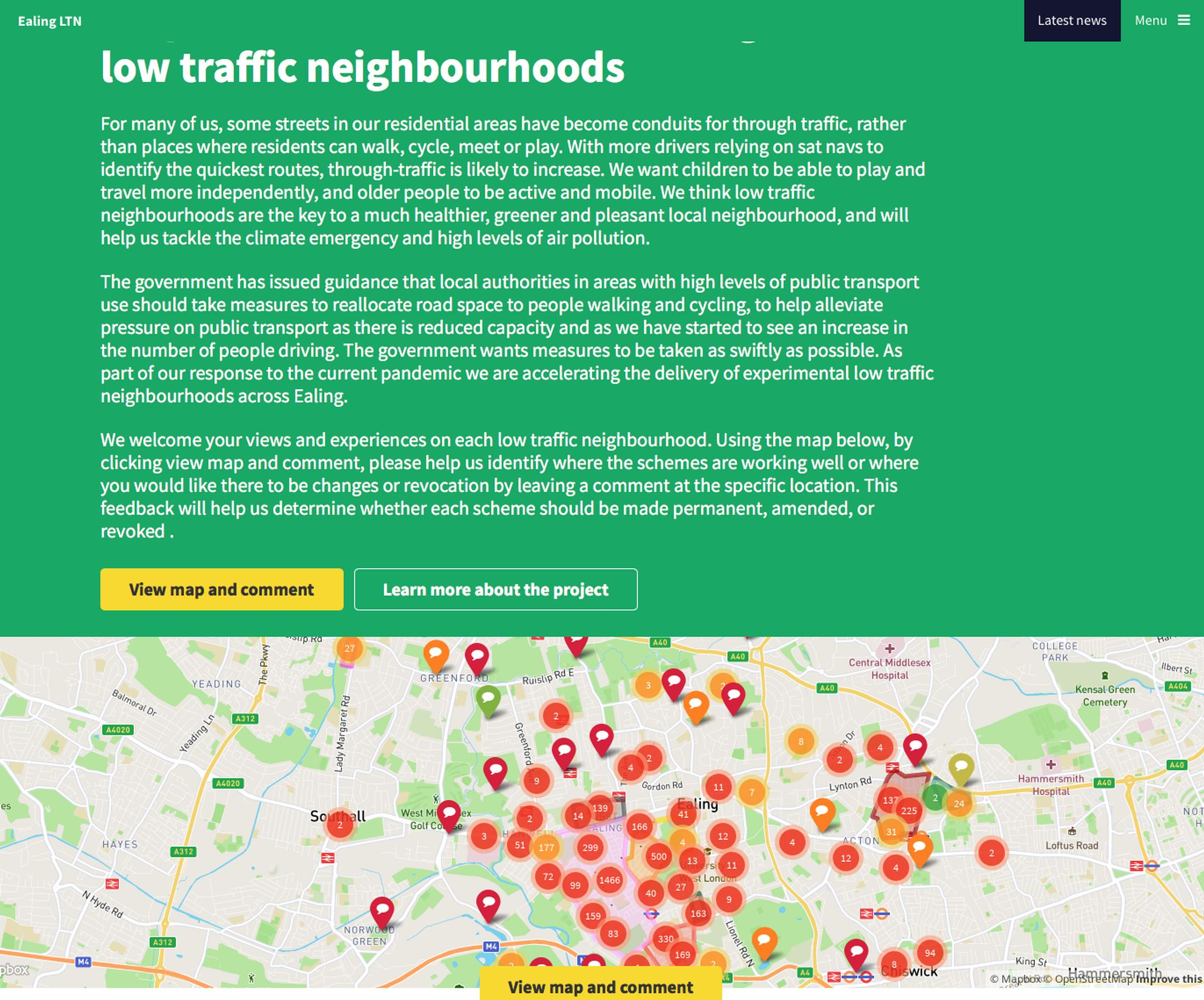 Ealing to enforce Low Traffic Neighbourhoods using cameras
