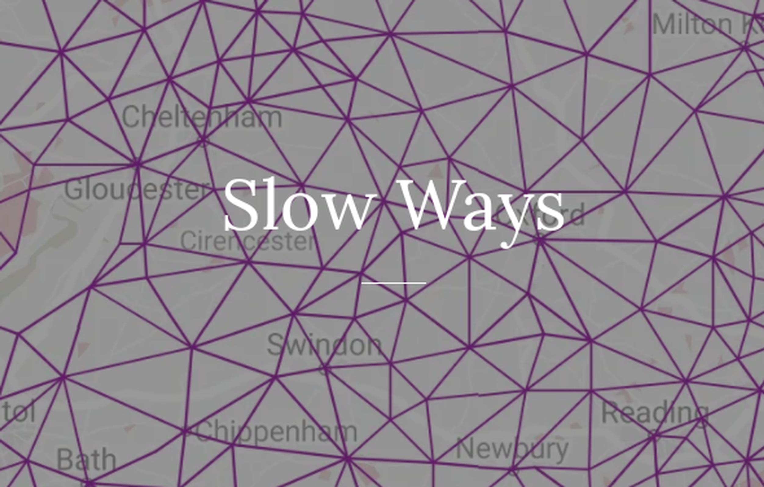 Slow Ways is a project to create a network of walking routes that connect all of Great Britain's towns and cities as well as thousands of villages: https://ravenellison.com/portfolio/slow-ways/