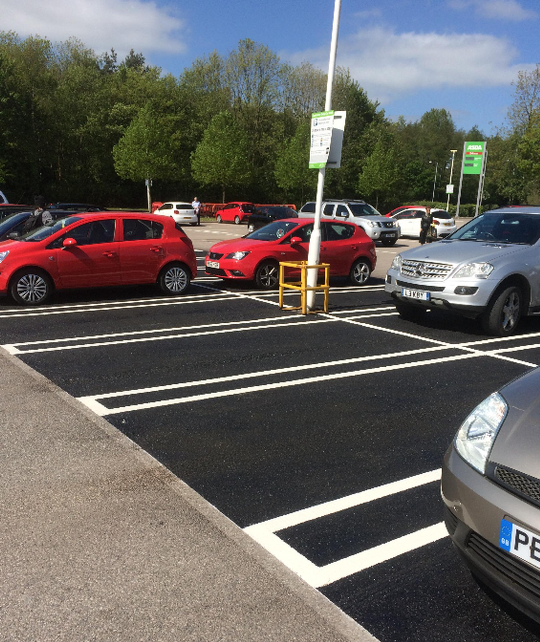 An upgraded supermarket car park