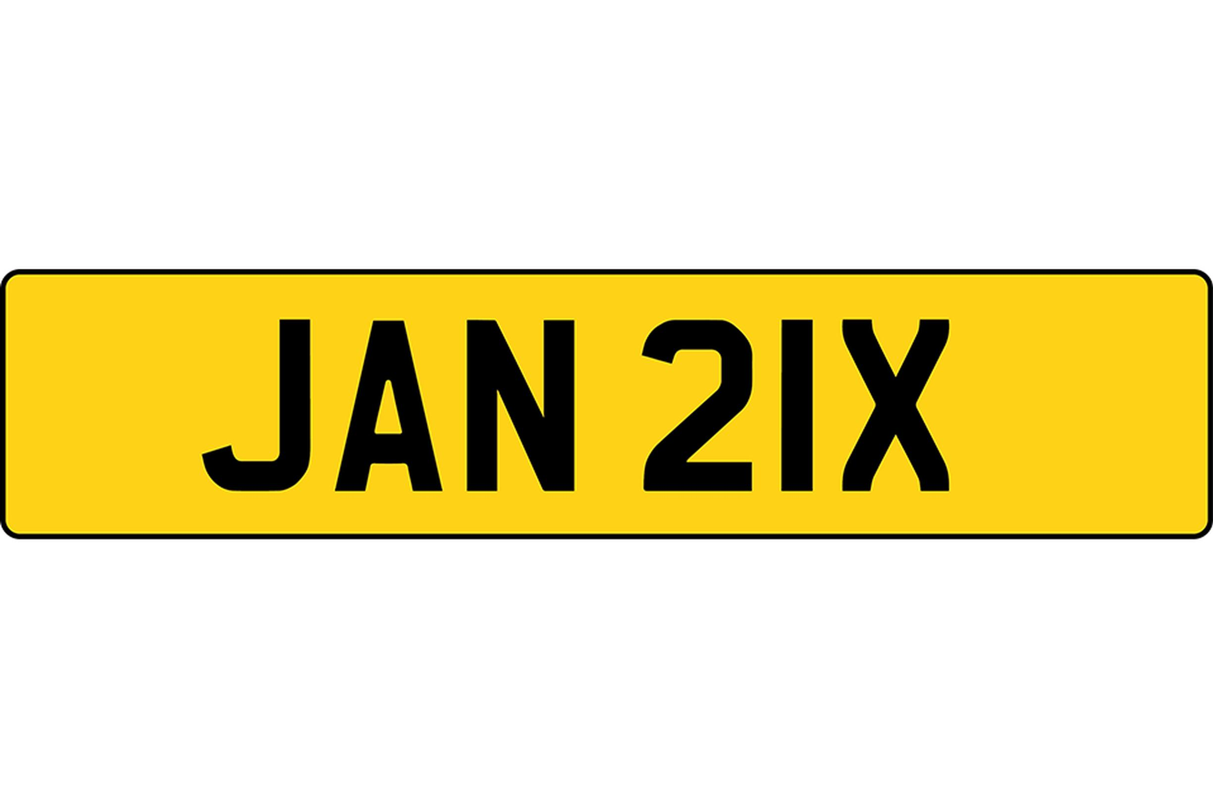 The new UK number plate format