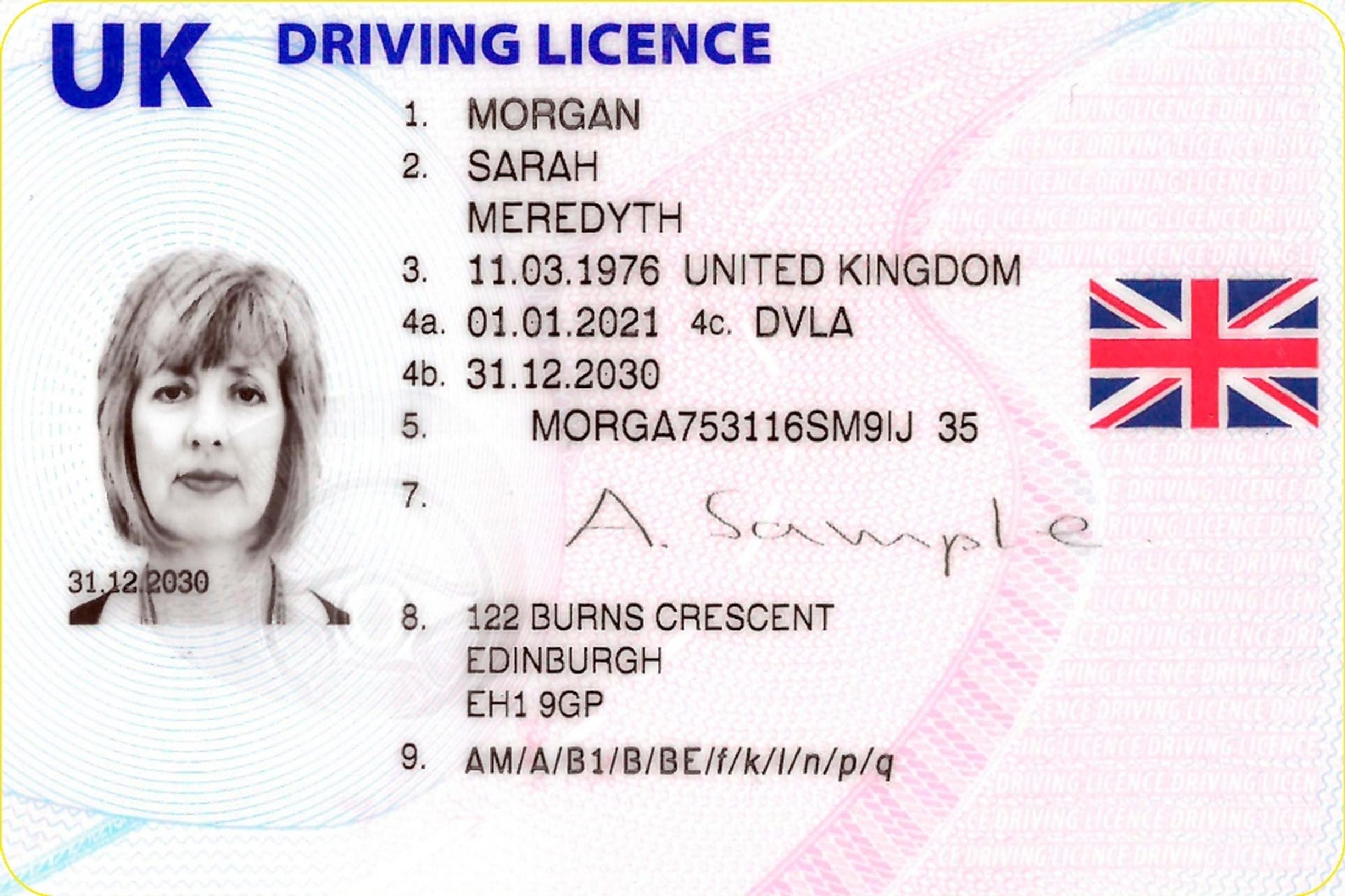 The new UK driving licence design