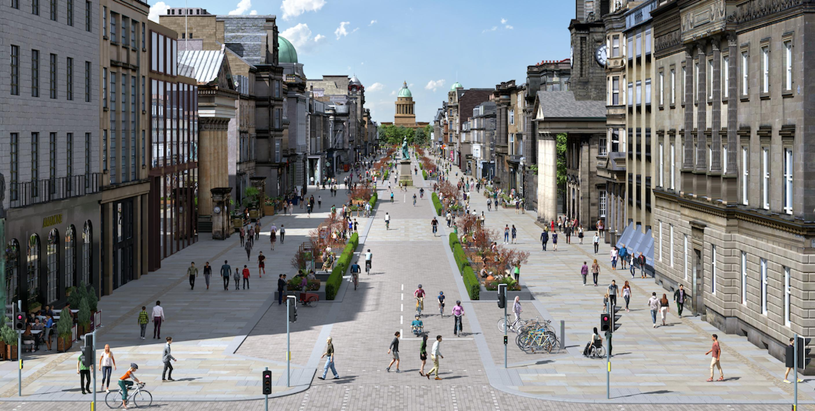 The final proposed concept designs for the transformation of George Street