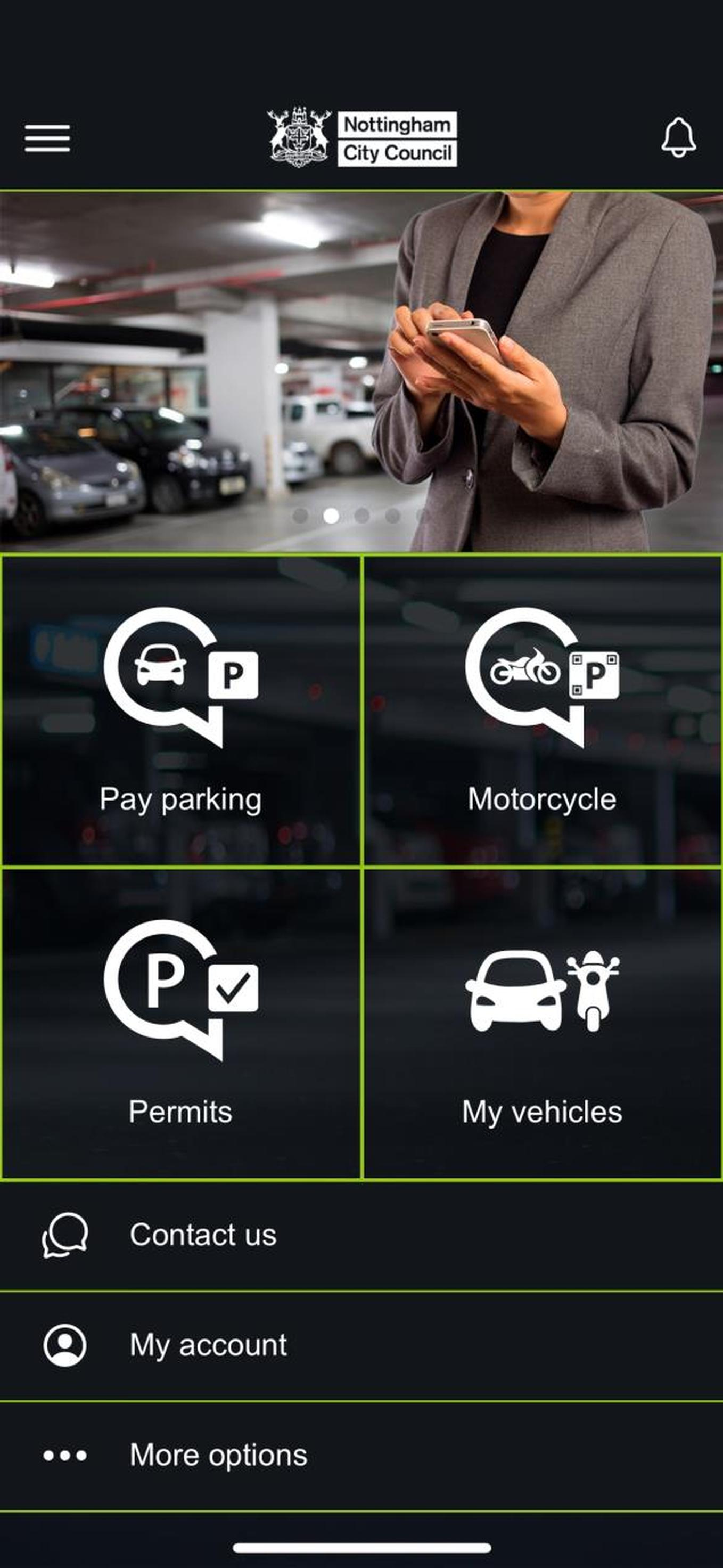 The RHParking app