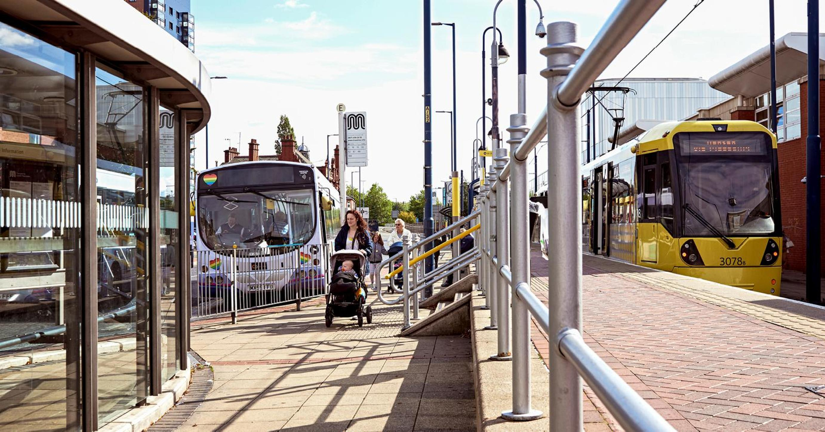 GMCA franchising will enable joined-up planning between bus and tram journeys so passengers will be able to quickly and easily change between them