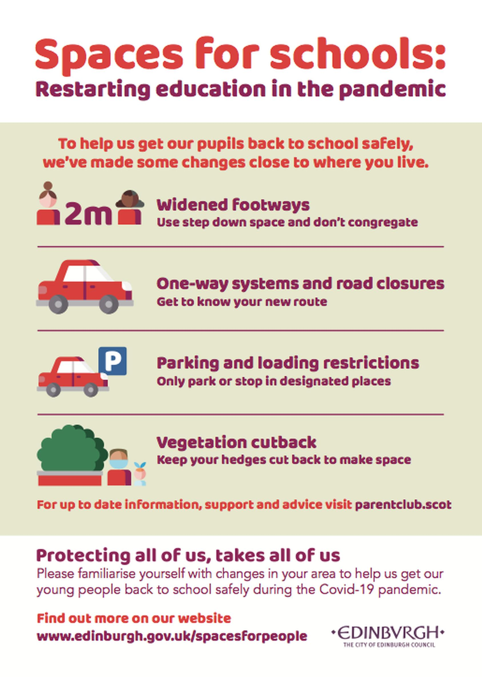 Posters and leaflets share advice on getting to school safely
