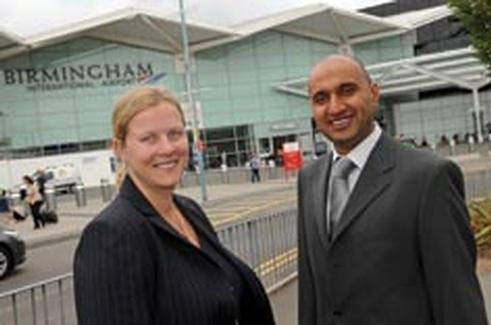 Meteor meet greet goes live at birmingham airport sarah anglim of meteor meet greet with roop johal of bia m4hsunfo