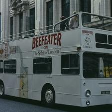 A London Pride Sightseeing vehicle in Coventry Street in 1984