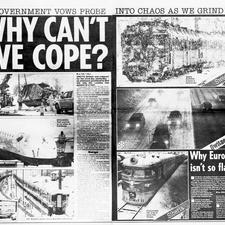 The Daily Star was just one of many papers to ask why Britain's transport system has such trouble coping with severe winter weather... again