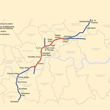 This map of Crossrail 2 appears in Network Rails draft route utilisation strategy for London and the South East published this month.