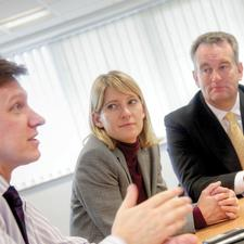 David Bird (left) has made the case to colleagues for customer service to be seen as a high priority throughout EON