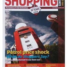 The front cover of the March edition of Shopping Centre magazine