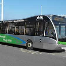 The Weymouth park-and-ride service will be launched within the next few weeks. Dorset County Council owns the vehicles and will run the service initially before transferring it to a partner operator