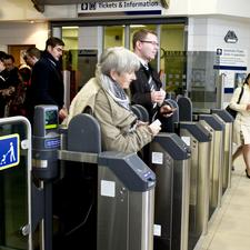 News ticket gates at Charing Cross station in Glasgow