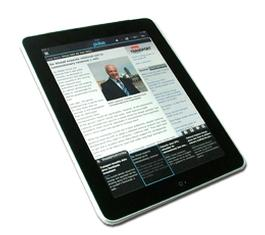 iPad shows RSS feed subscription through 'Pulse' App